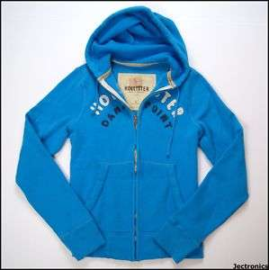NEW NWT HOLLISTER CO ZIP HOODIE SWEATSHIRT JACKET BLUE