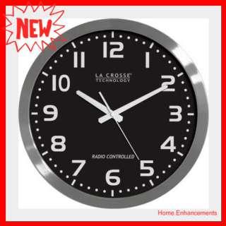 La Crosse 16 Atomic Wall Clock WT 3161BK ,Lacrosse 3161BK