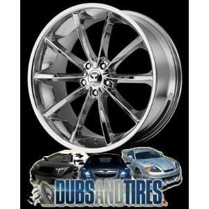 20 Inch 20x8.5 LORENZO wheels WL32 Chrome wheels rims