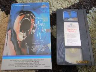 Oversized box Pink Floyd the wall vhs MGM UA Home Video 1982 Color