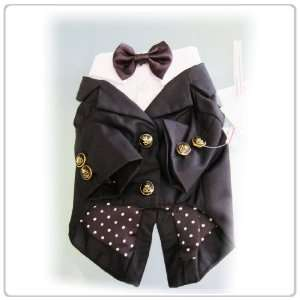 Pet Dog Clothing Black Bow tie Suit  Avaialble in