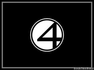 Fantastic Four Movie Logo Decal Vinyl Sticker (2x)