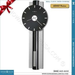 Miller Contemporary black glass face quartz wall clock  Hudson