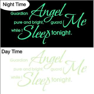 Glow In The Dark Nursery Wall Quotes Words Saying Decal