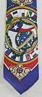 Barry Wells Patriotic Dallas World Trade Center Texas Flag Tie