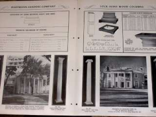Wood Columns circa 1951. Very good condition. Contains 8 pages