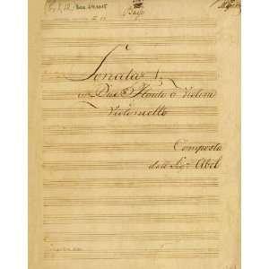 violincello (Music Score, FAcsimile Reprint): Carl Friedrich Abel