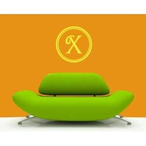Letter X Monogram Letters Vinyl Wall Decal Sticker Mural Quotes Words