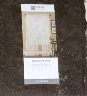 Dark Brown Tailored Lace Window Valance Curtain Topper