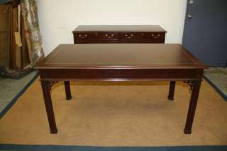 COUNCILL craftsman antique STYLE mahogany Chippendale office table