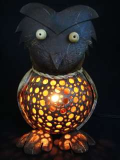 Handmade Wooden Crafts   Coconut Shell Lamp   Owl Lamp