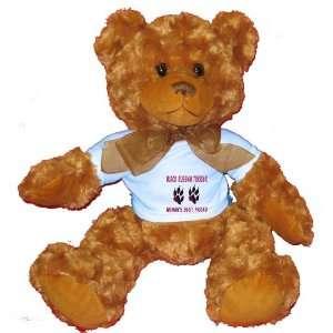BLACK RUSSIAN TERRIER WOMANS BEST FRIEND Plush Teddy Bear with BLUE T