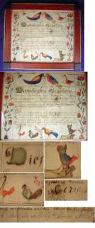 Daniel Peterman Pennsylvania Dutch Folk Art Fraktur