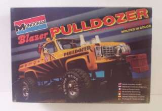 PULLDOZER 4x4 Chevy Blazer 2295 Vtg Monogram 124 Kit Lifted Truck