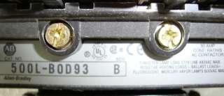 TAG# 7495 AB ALLEN BRADLEY AC LIGHTING CONTACTOR 500L B0D93, SER. B