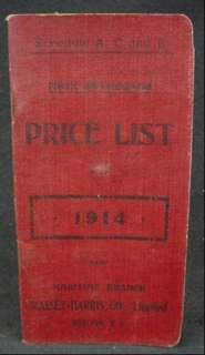 1914 Massey Harris Co Dealer Price Catalog Horse Drawn Farm Equipment