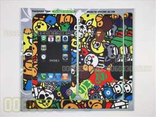 Bathing Ape Baby Milo Bape Skin protector Sticker Cover for iPhone 4