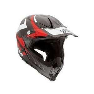 AGV AX 8 EVO Klassik Off Road Motorcycle Helmet Black/White/Red Medium