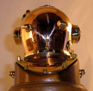 MARK V 6 U.S. NAVY DIVERS DIVING HELMET on BASE 704 5R