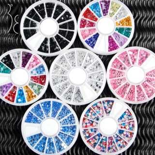 20x Nail Art Mixed glitter Rhinestones pearl wheels new