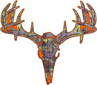 Camo Deer Skull S4 Vinyl Sticker Decal Hunt Whitetail Buck M