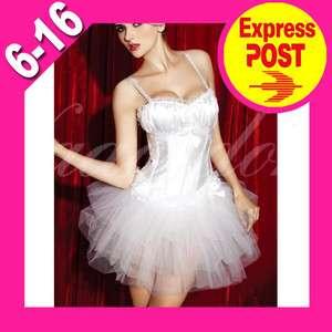 WHITE SWAN Dance COSTUME Dancer lace corset petticoat tutu skirt