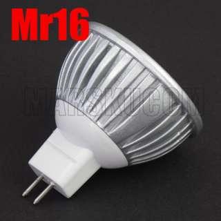 GU10 3x1W LED Light Warm & Cool White Light Bulb Lamp AC 85V 265V 12V