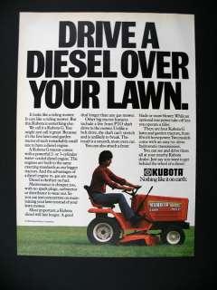 Kubota G 5200 Diesel Lawn Tractor Mower 1984 print Ad
