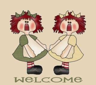 Primitive Raggedy Ann Prim Daisy Lil Rag Doll Annie