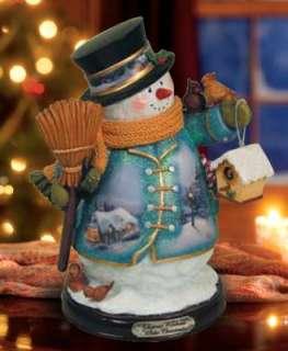 THOMAS KINKADE *WHITE CHRISTMAS* SNOWMAN, LE, NIB