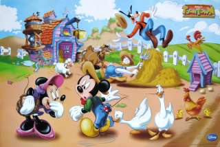 DISNEY DOWN ON THE FARM WITH MICKEY MOUSE, MINNIE, DONALD, GOOFY