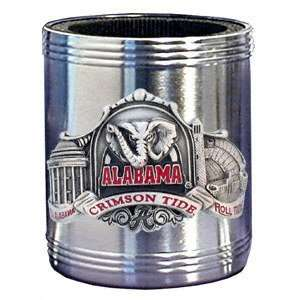 Alabama Crimson Tide Stainless Steel & Pewter Can Cooler