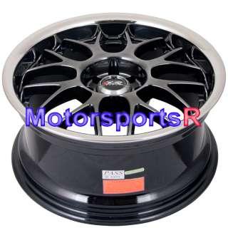 17x9 XXR 006 Chromium Black Rims Staggered wheels 4x100 84 91 BMW E30