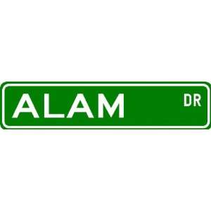 ALAM Street Sign ~ Personalized Family Lastname Sign