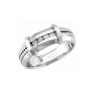 14K White Gold Diamond Wedding Band 0.12 TCW Jewelry