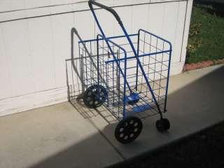 Shopping Cart Red Blue Black w extra basket Swivel Rotating Wheels