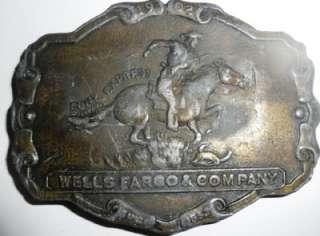 Wells Fargo & Company 1902 Pony Express Belt Buckle