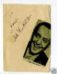 Ted Fio Rito Jazz Big Band Rare Signed Autograph