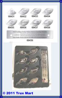 THIS PETERBILT STAINLESS STEEL GAUGE EMBLEM SET WILL FIT 370 SERIES