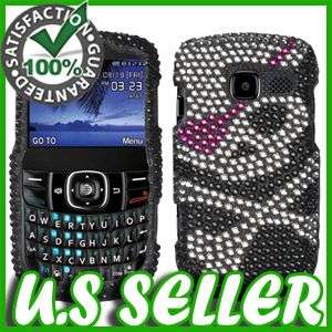 SKULL BLING HARD CASE FOR PANTECH LINK 2 P5000 PROTECTOR SNAP ON COVER