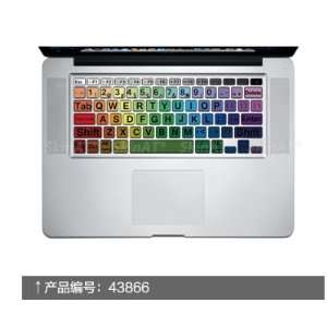 Big Character Rainbow Macbook Keyboard Decal Humor Sticker