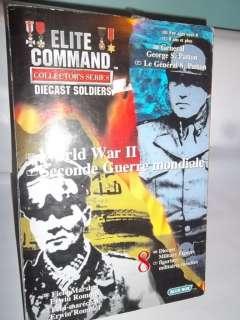 ELITE COMMAND ELITE COMMAND Diecast Soldiers US 3 Army & German Patton