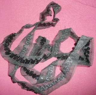 VTG 40s 50s BLACK PINK SEQUINS TRIM GR8 4 CIRCLE POODLE SKIRT & DRESS