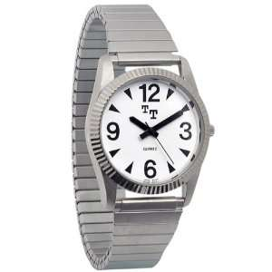 Tel Time Low Vision Watch Mens with Expansion Band Health