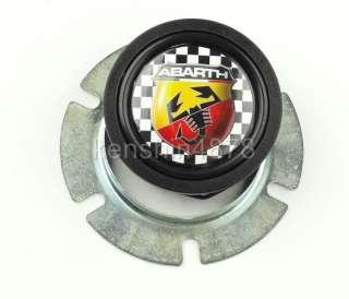 Steering Wheel ABARTH Checkered Horn Button for MOMO SPARCO GRANT DINO