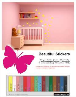 Butterfly Wall Stickers Express   Beautiful Butterflies