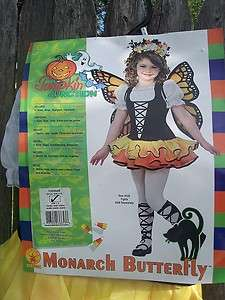 NEW Toddler Girls Monarch Butterfly Costume sz 2 4