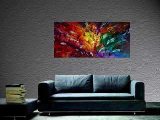 ART ABSTRACT MODERN OIL PAINTING WALL DECOR Eugenia Abramson