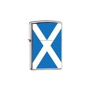 Zippo Custom Lighter Scotland Flag High Polish Chrome