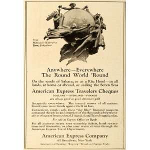 1921 Ad Travlers Cheques American Express Marceaux Art